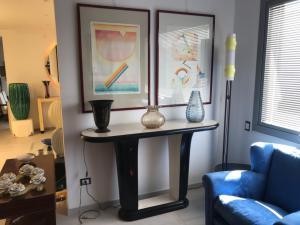 二十世纪家具配件的控制台和镜子