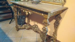 Consola dorada primera mitad del siglo XVIII