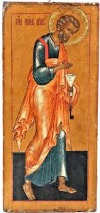 """San Pietro"" ancient Russian icon from the early epoch"