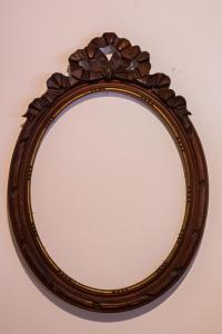 Cornice ovale in legno fine '800