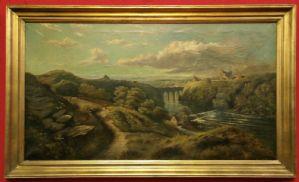 Dipinto ad olio di paesaggio