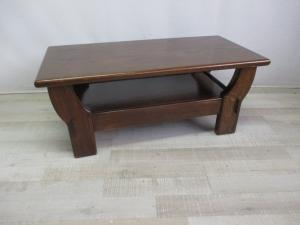 Low coffee table in brown - 80s - excellent condition.