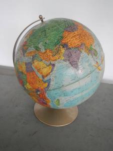 mappa mondo anni 50