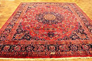ANCIENT, FASCINATING TABRIZ QOUM (QOM) PERSIAN FLORAL - 315 x 360 cm.