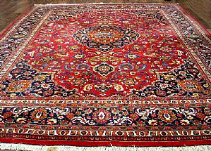 GREAT Meshad Persian Khorasan A FLORAL DECORATIONS - 310 X 390 cm.