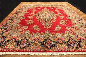 WONDERFUL AND IMPORTANT ANTIQUE KIRMAN (KIERMAN) LAVER FROM PALACE - 300X410 cm.
