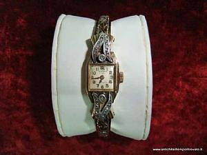 Antico orologio gioiello dèco