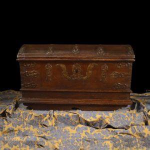 Comò in vetro di Murano e ottone, XX° secolo