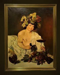 Magnífica pareja del Baco di Caravaggio