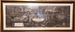 Piranesi, grandissima incisione, stampa originale, Italia, XVIII secolo
