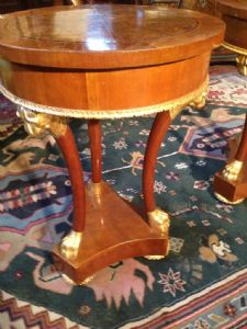 Couple of Charles X bedside tables in cherrywood