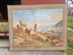 画布上的大型19世纪山水画