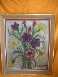 PAINTED OIL ON CANVAS WITH FRAME SIGNED JEAN GOUDARD 65
