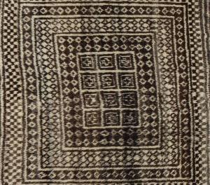 Tapete raro de GASHGAI (KASHKAI) com lã não tingida