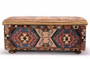 Chest or Trunk Upholstered with Old Shahsavan