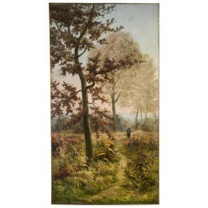 """Большая французская картина """"Осень"""", датированная 1894 г. и подписанная Г.Маррионом"""