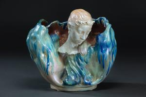 Plant-shaped vase with a faun's head from the 1900s