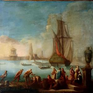 Marina  di gusto francese XVIII secolo