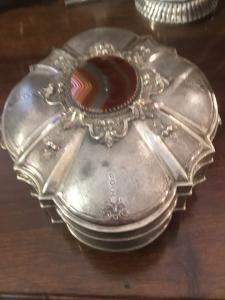 Silber Schmuckschatulle aus den dreißiger Jahren