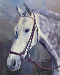 """动物画""""灰色汉诺威马-灰马""""赫尔穆特·巴赫拉赫·巴雷 (1898 -1969)"""