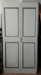 Porta veneta dipinta a tempera XVIII secolo