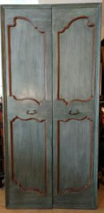 Ligurian door with two doors lacquered with Provencal taste tiles