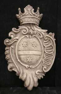 Magnifico Stemma Araldico Veneziano - 61 x 39 cm - Marmo d'Istria - 18° secolo