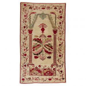 Antico tappeto a preghiera GHIORDES da collezione