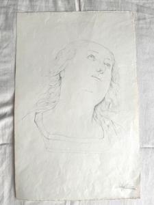 Pencil drawing on paper Arturo Pietra.Bologna.