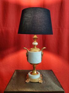 Hollywood Regency Lamp In Marble 20th Century