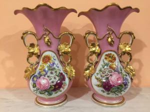 Par de vasos de porcelana em Paris, Nap era. III