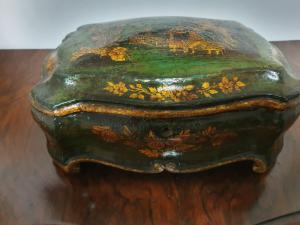 LACQUERED AND PAINTED BOX-BOX, VENICE