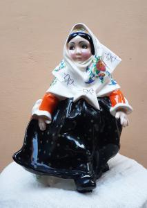 Boneca da Sardenha com vestido floral - Sandro Vacchetti - Essevi