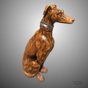 Antico cane in ceramica dei primi del '900