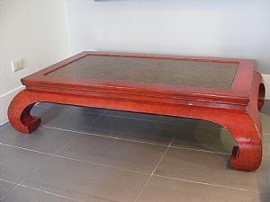 Table basse en laque