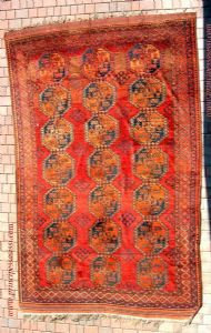 Rare antique rug nomadic tribes Ersari. Full '800