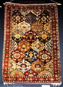 Rare antique carpet Agra (North India) in the second half 'of the nineteenth century