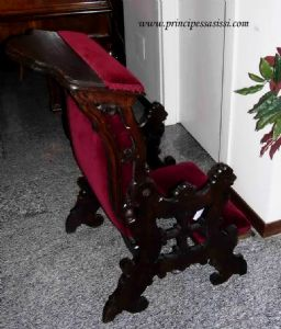 Rare reversible kneeling in armchair, intact, at the end of '600 and early' 700