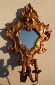 sconces carved and gilded wood