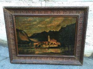 dipinto olio su tela paesaggio