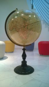 Antique, huge Swedish Globe, Wahlström & Widstrand, Stockholm & D. Reimers, Berlin
