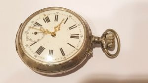 Ancient Great Clock / Onion Pocket Silver First '900