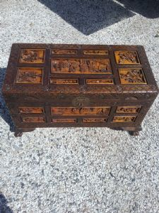 china trunk entirely carved early 1900s