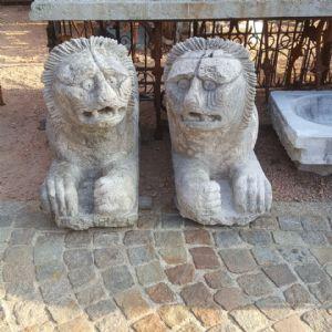 lions de marbre de Venise