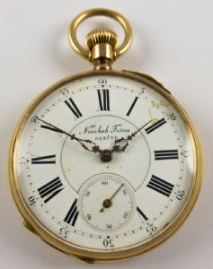Gold pocket watch, late '800