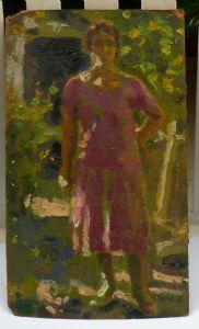 "Carlo Corsi. ""Figure in the garden""."
