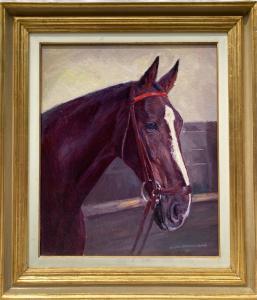 """动物画""""汉诺威蜥蜴-栗色马""""赫尔穆特·巴赫拉赫·巴雷 (1898 -1969)"""