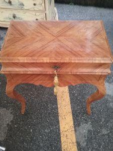 tavolino in legno di rosa da centro eccezionale unico