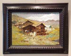 Peintures Signée et datée Guido Casciaro 1925 « Paysage de montagne » Piémont
