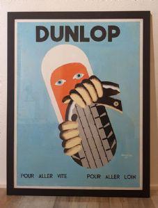 Manifeste Pneus auto années « Dunlop » '55 AUMOINE signés
